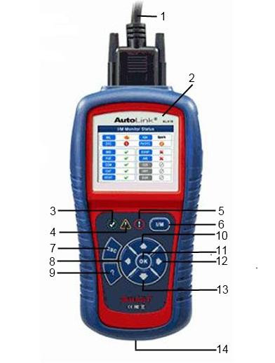 Autolink AL419 - функциональные кнопки и компоненты