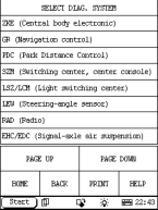 Launch X-431 IV - выбор сервисов