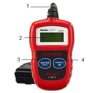 Autolink AL301 - кнопки