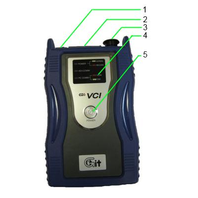 Hyundai and Kia GDS VCI - функциональные кнопки и компоненты