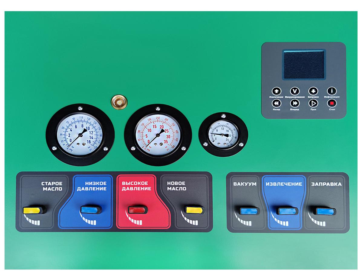 панель управления станции для заправки кондиционеров Oda 250