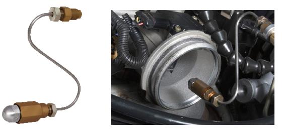 Специальный адаптер для очистки дросельного узла и впускного коллектора