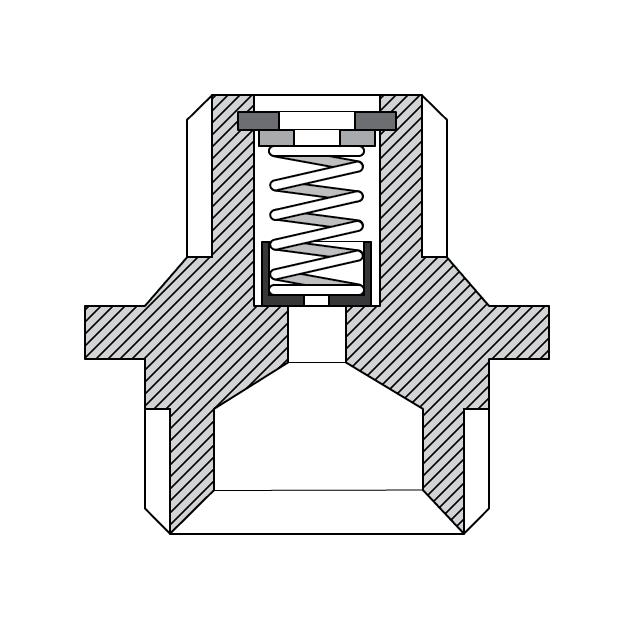 Схема парашютного клапана в гидравлической системе подъемников Launch