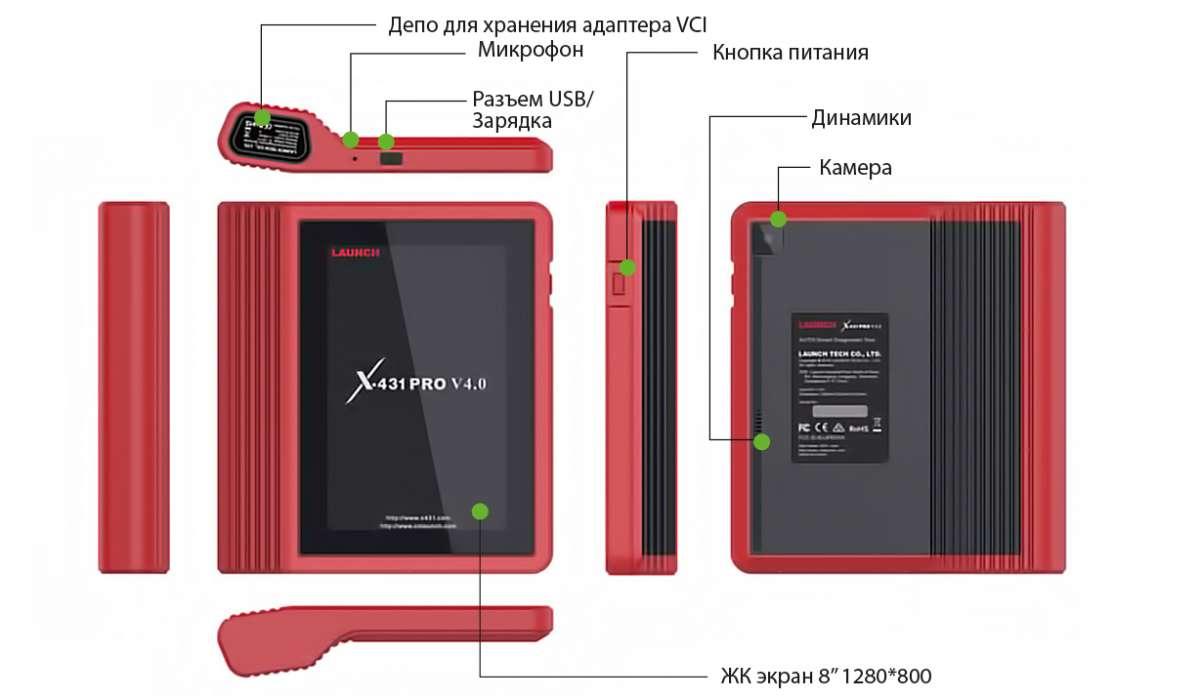 Новый автосканер 2020 launch x431 pro v4